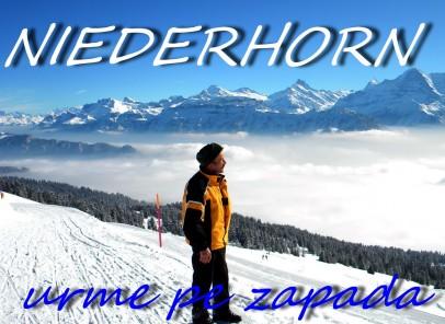 Niederhorn – urme pe zăpadă