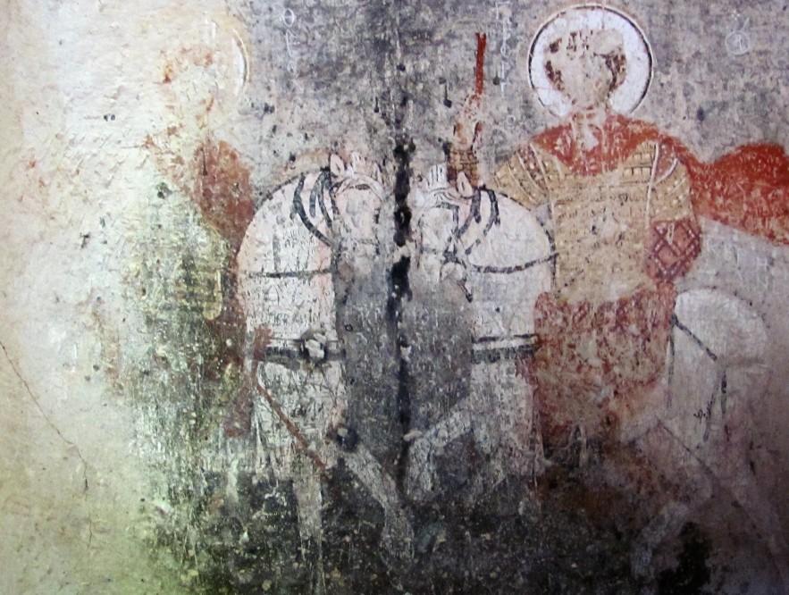 Fresca pe piatra unei biserici din Goreme