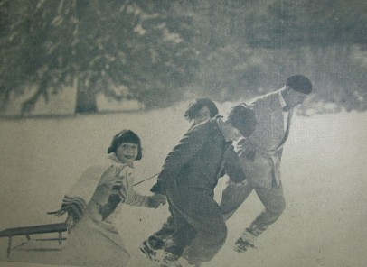 Inedit. Fotografii cu Marele Voievod Mihai, la Serbările Iernii, Sinaia, 1931