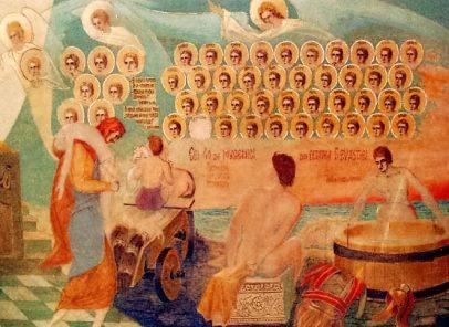 Profețiile părintelui Arsenie Boca în fresca Bisericii Drăgănescu. Cum trebuie interpretate (VIDEO)